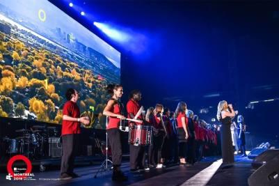 Choeur du moment Montréal - Cérémonie des Jeux du Québec au Stade olympique
